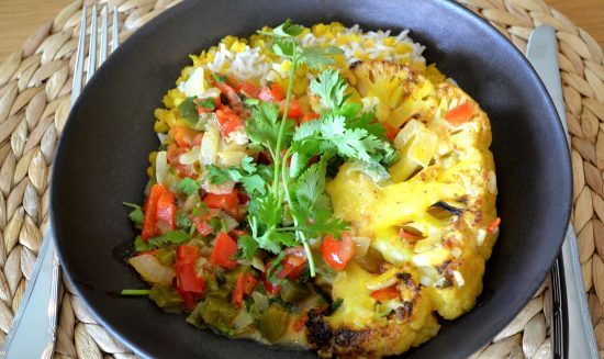 Cauliflower Moqueca (or Veggie Brazilian mild Curry)