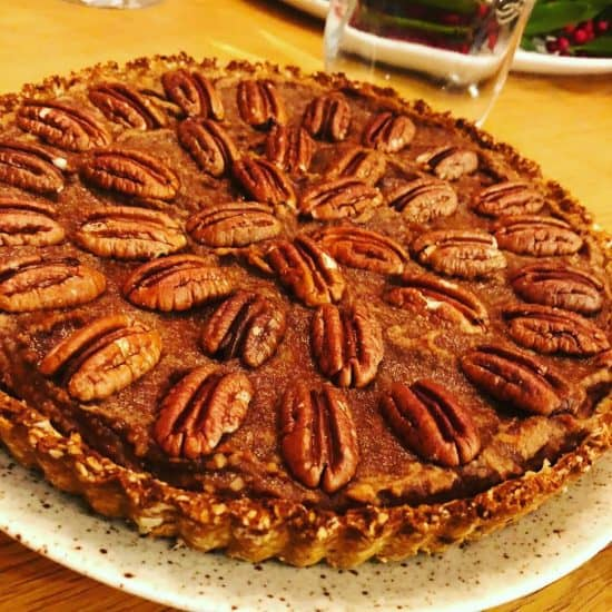 Pecan Pie with White Beans Caramel