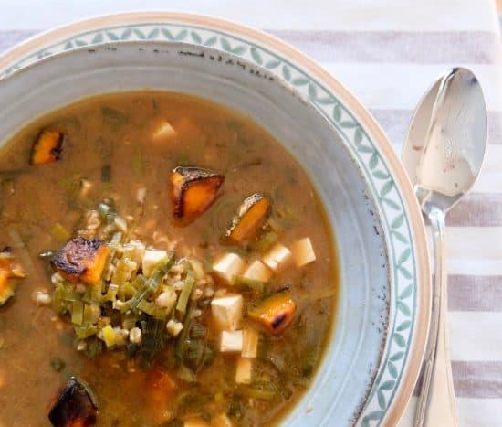 Miso Leek Grain Soup