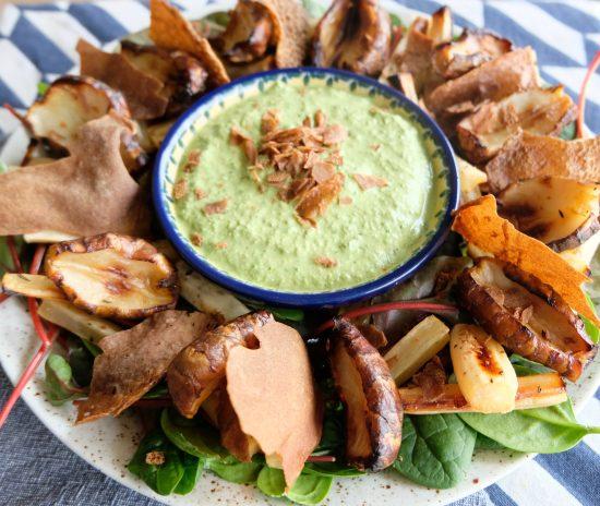 Roasted Topinambur Winter Salad