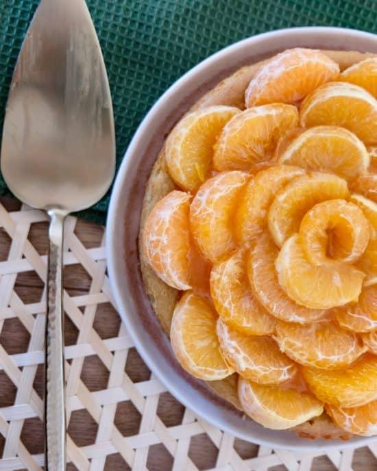 Clementine Vegan Baked CheeseCake