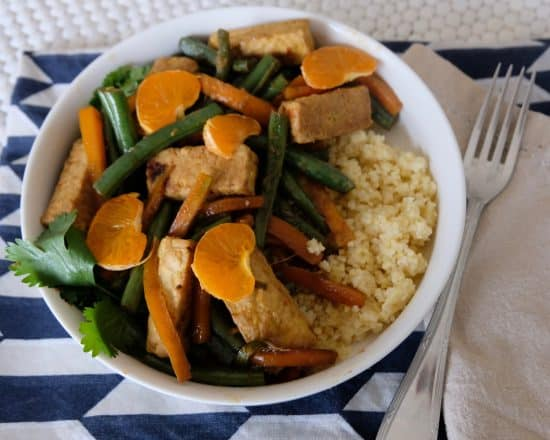 Clementine and Tempeh Stir-fry