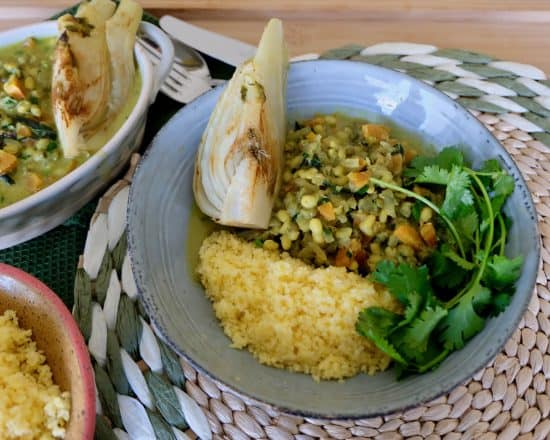 Fennel and Mung Beans Green Curry