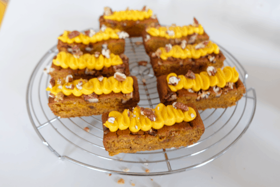 Pumpkin Brownie with Pumpkin Frosting
