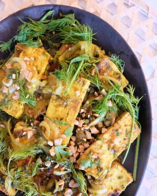 """Vietnamese Tumeric Tofu """"fish"""""""