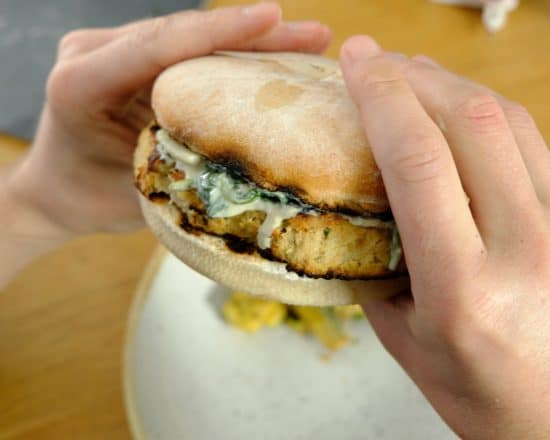 Artichoke White beans Burger